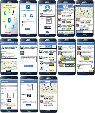 wire frame of website or mobile apps