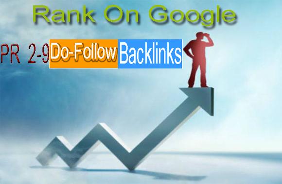 Jully 2017 Update We will Do manually PR 2-9 300 Do-follow Backlinks
