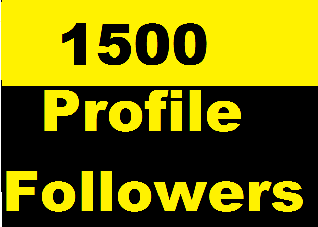 1500+ Social Media Profile Followers very fast and Instant Start