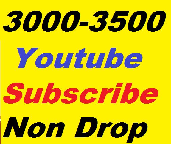 3000 Safe Channel Promote Non Drop Lifetime Guaranteed