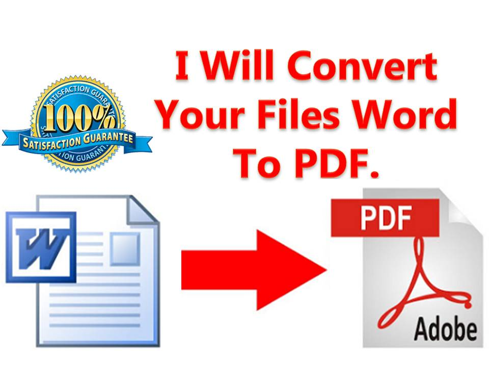 Convert Word document To PDF document.