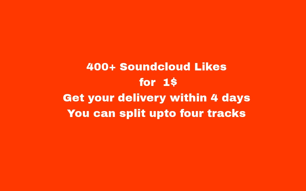 400+ soundcloud likes
