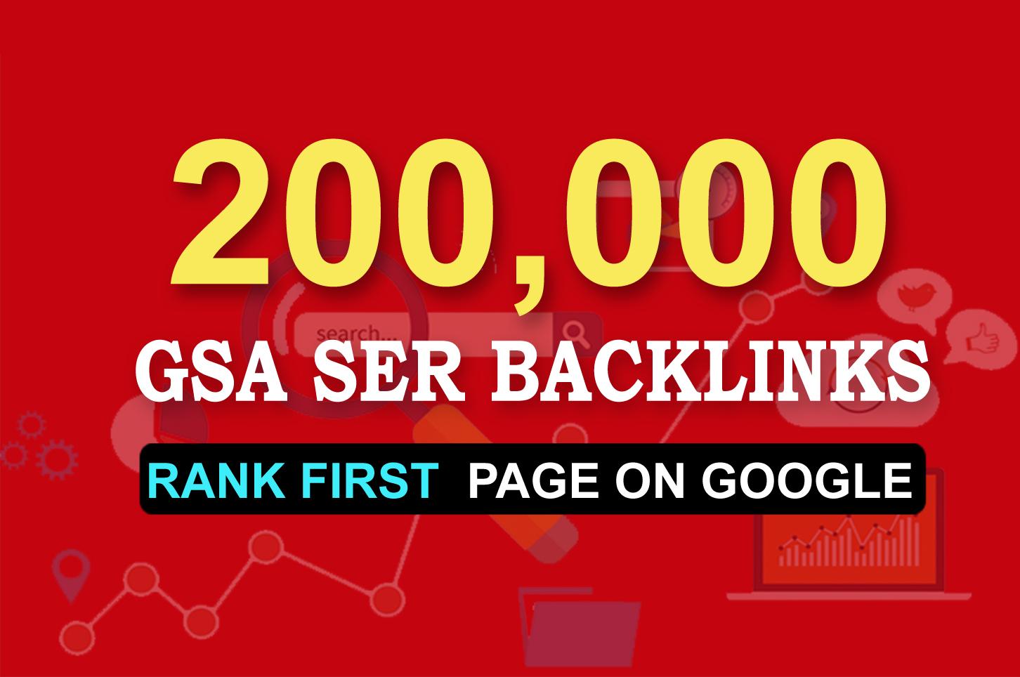 Provide 200,000 SEO Backlinks,  To Website Improving