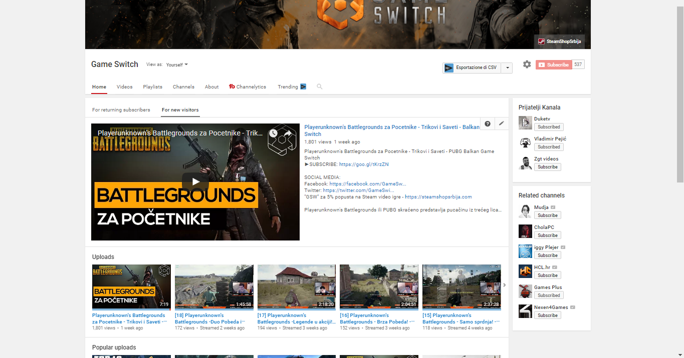Youtube Channel Set up And Optimization