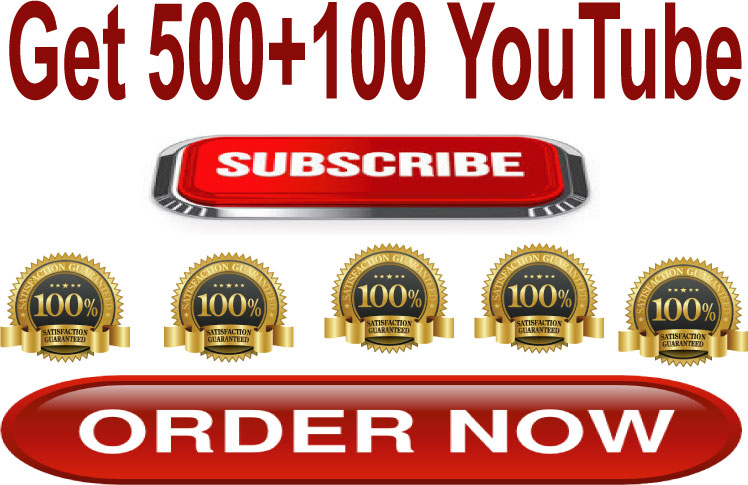 Add 500+100 Total 600+ YouTube Subscribers Real Non-Drop Guaranteed Satisfaction Within 48-72 Hours
