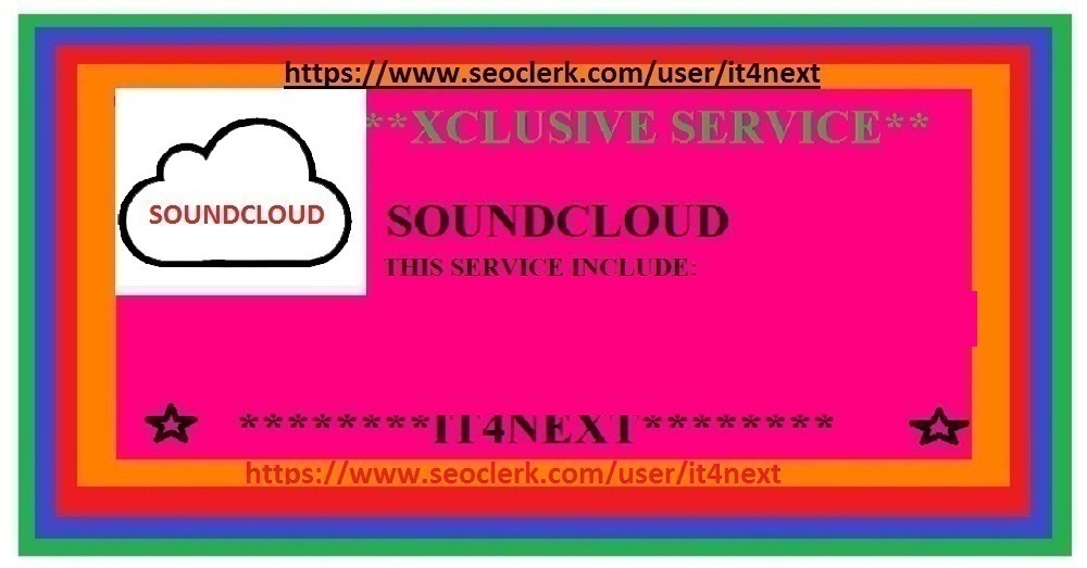 GET 1 M soundcloud  PLAYS + 100 LIKES + 100 REPOSTS + 100 SOUNDCLOUD COMMENTS