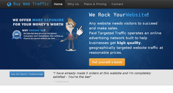 4 in 1 TRAFFIC RESELLER BUSINESS -Website