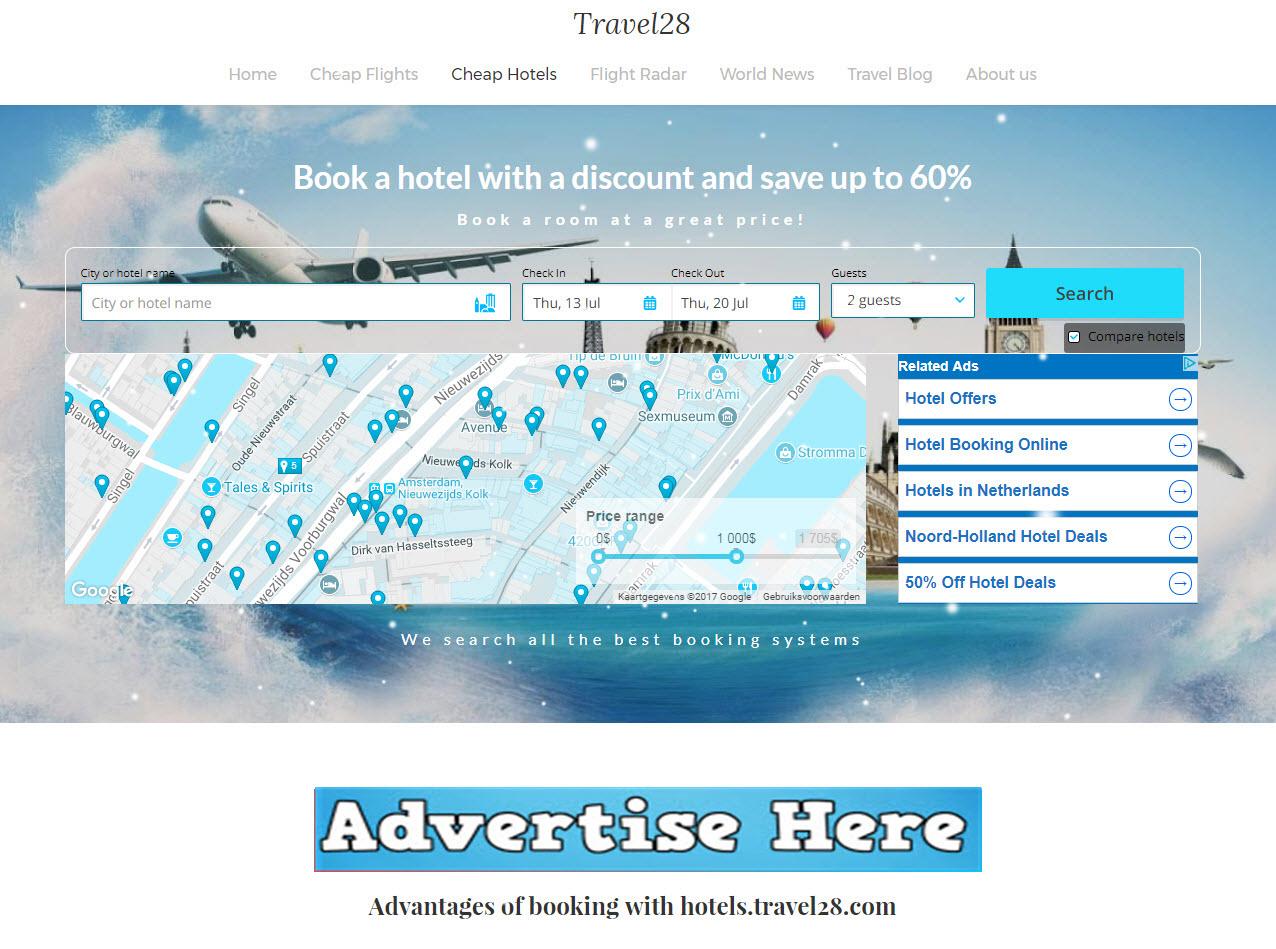 2 Month Banner Advertising on Travel Website