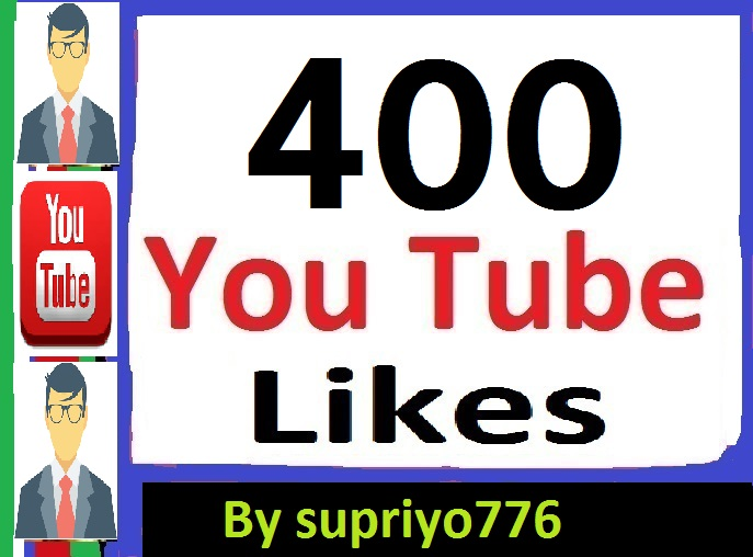 300 To 400 YouTube Likes 2-4 Hours Delivery