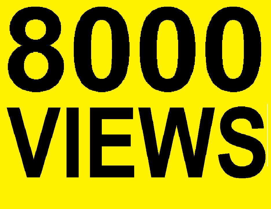 8000 Desktop High Retention Youtub-e VIews With 90+ Retention