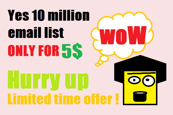 Give You Personal And Business Quality Bulk Email List Just $5
