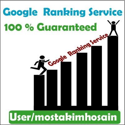 Get Google Ranking  Guaranteed  Good Result