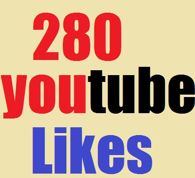 l will provide 280+yotube likes fast delivery only for $1