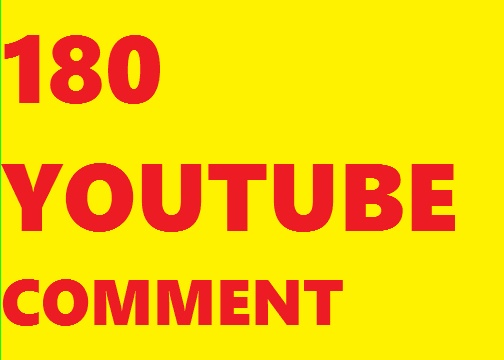 180+ youtube comment or 650 youtube like supper fast delivery