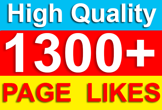 Add 1300 Permanent Fast Page Likes