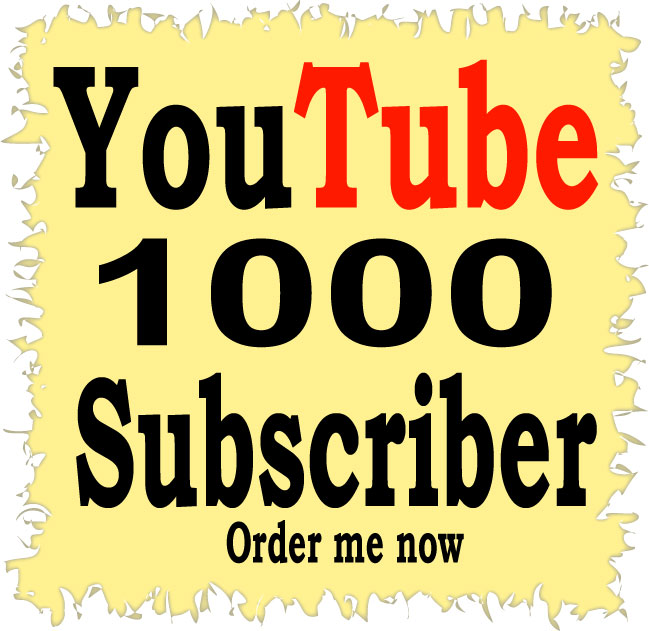 1000 YouTube Subscriber Or 1500 YouTube Like