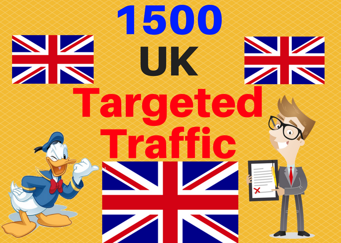 1500 UK TARGETED traffic to your web or blog site. Ge...