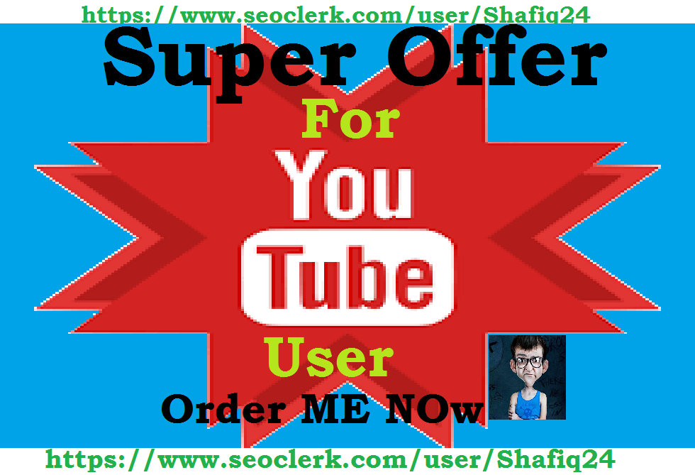 Give You 200+ YouTube Subscribers OR 500+ YouTube Like Any one Fast Delivery