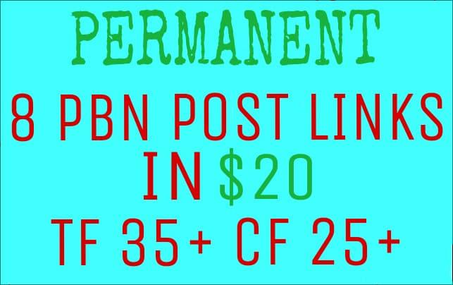 Do 25 High Tf Cf Da Pa Homepage Pbn Backlinks Permanent