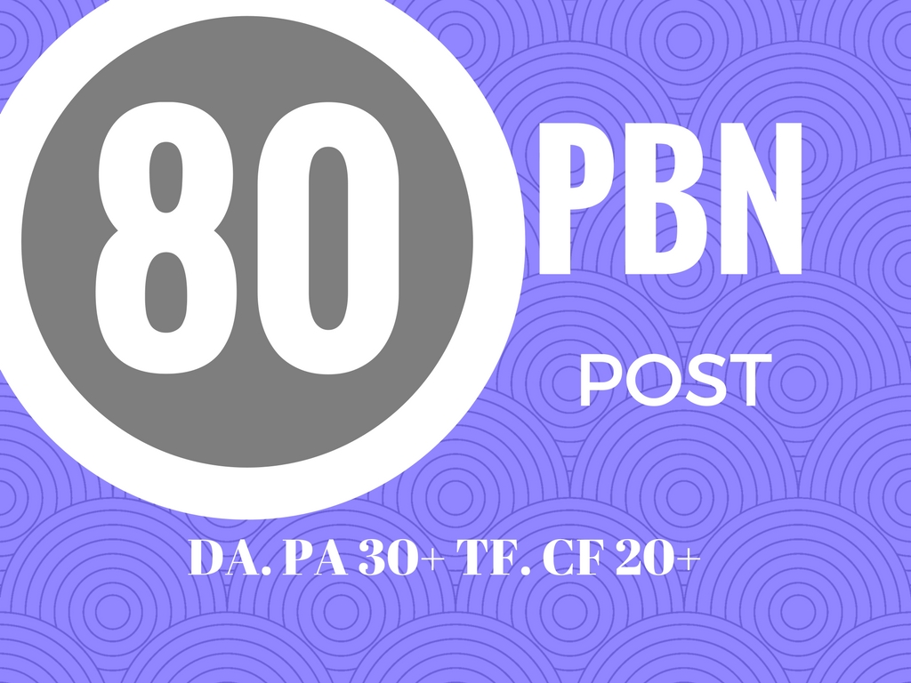create 80 web 2.0 PBN post ranking your website google 1st page.
