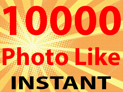 Super Fast 10000 High Quality Photo Like Or Views On Your Post