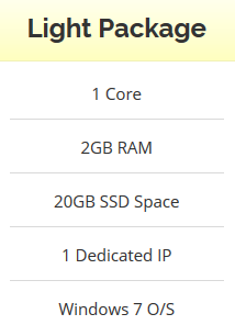 Windows VPS 2GB RAM - 20GB SSD - Anti Suspend - Unlimited Bandwidth