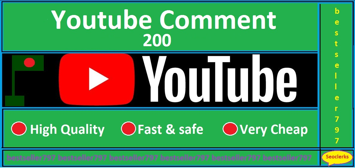 200 YouTube custom comment from active user with real profile picture