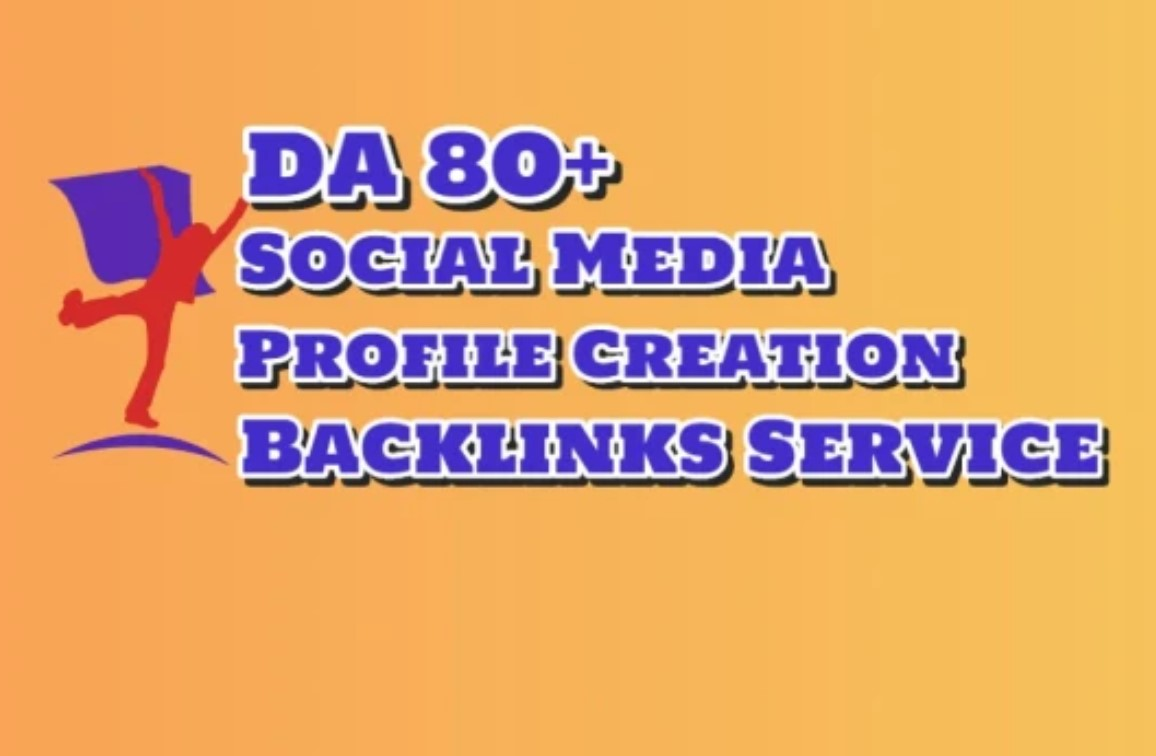 I will create 100 High-Quality Social Media Profile Creation Backlinks for Google Ranking