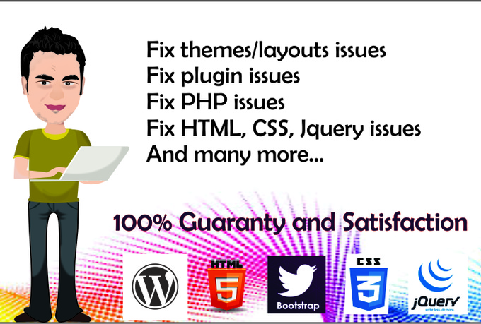 Fix Wordpress Errors,  Issues,  Problems And Design Theme