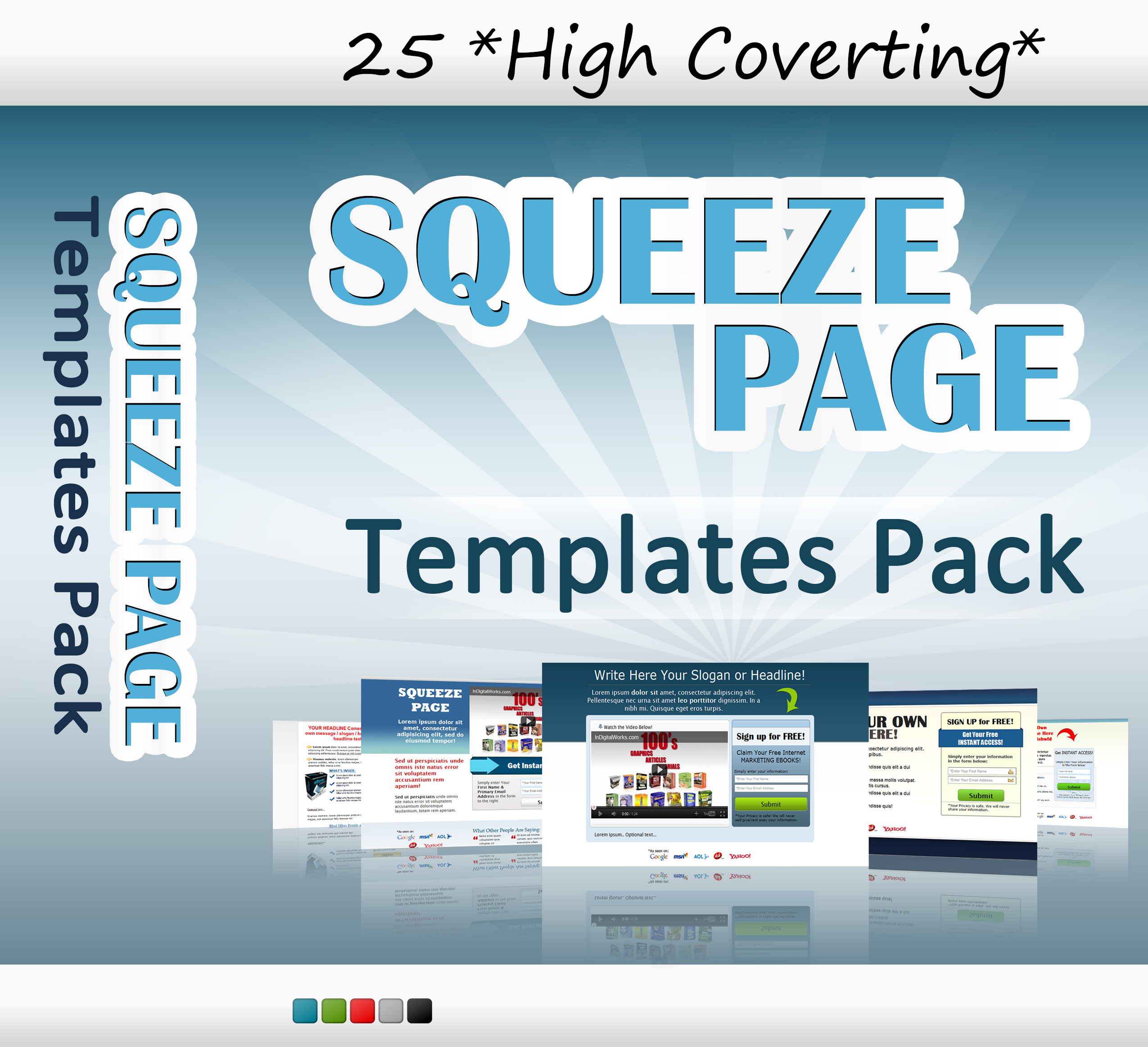 I Give You 25 High Converting Squeeze Page Templates