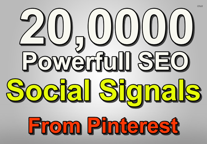 Build 20,000 Social Signals and Authority SEO backlinks