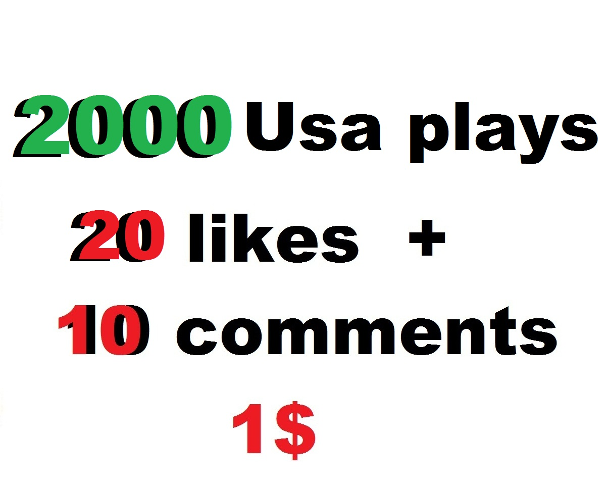 2000 high retention usa soundcloud plays 20 likes and 10 comments