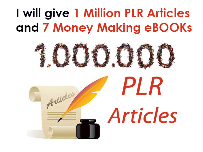 give 1 million PLR articles with quality content