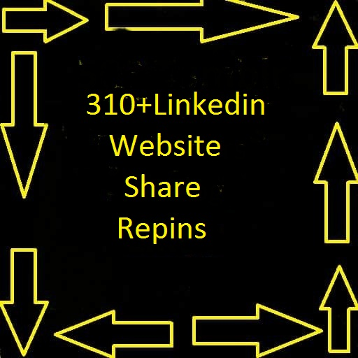 Fully safe and fast delivery 310++ Linkedin Website Share OR 200+Repin website share for $1.