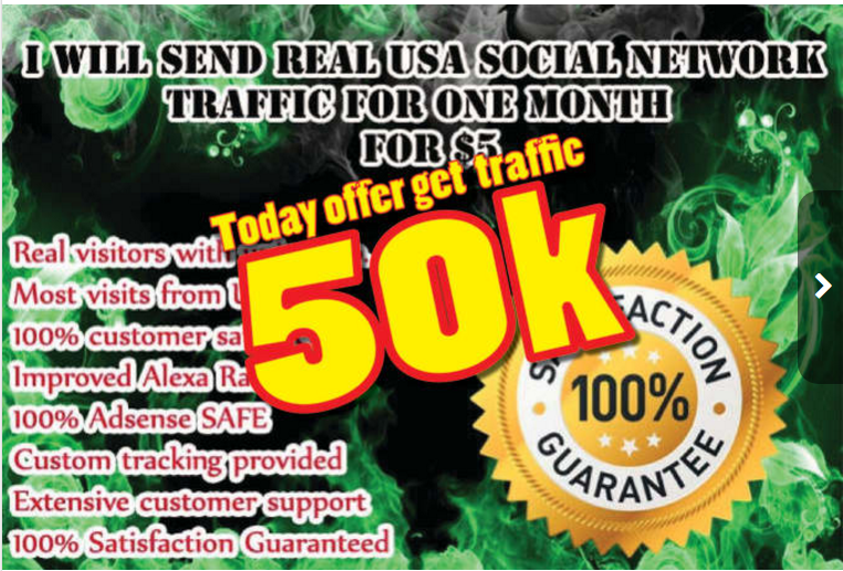 Drive 50 000 Social Web Traffic To Your Website