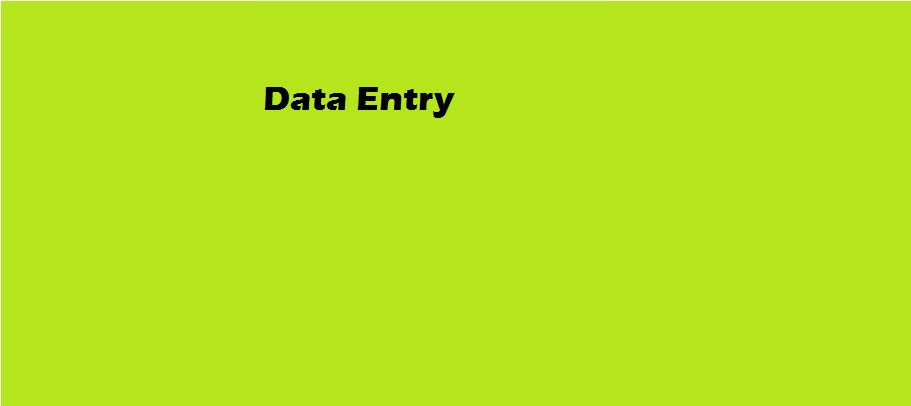DATA ENTRY FOR MY BUYER
