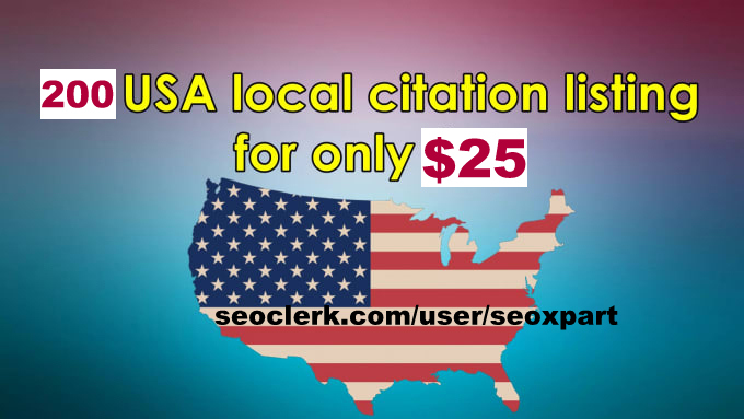 submit local business listing details in top 200 USA directories