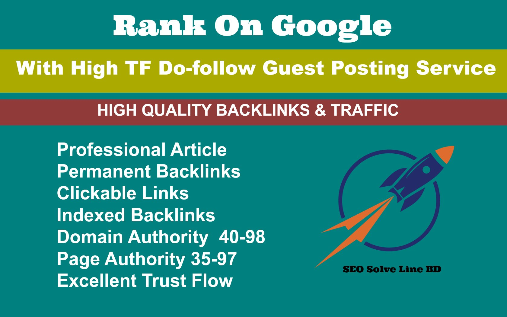 Skyrocket Your Ranking With HQ Dofollow Backlinks