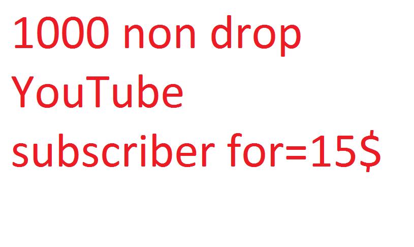 1000 non drop YouTube subscriber