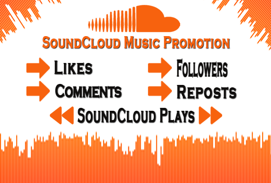 SoundCloud 80 Likes, 80 Comments, 80 Followers, 80 Plays and 50 Reposts only