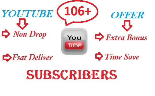 Get Buy 106+ YouTube Channel Subscribers