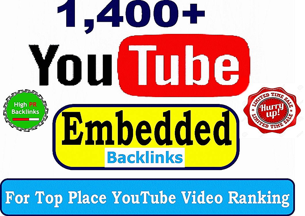 Create 1,400+ Strong Verified Embedded Backlinks To Your YouTube video and Quick Ranking booster