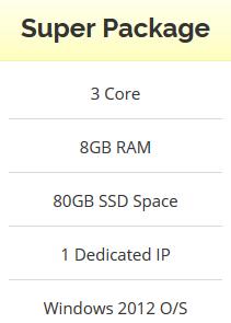 Windows VPS - 3 Core - 8GB RAM - 80GB SSD - Stable an...