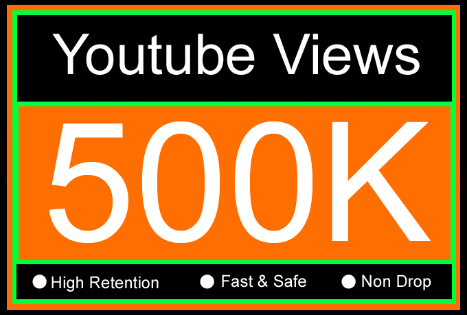 500K Or 500000 YouTube Views with 1000 Likes and 20 Comments Or 500,000 Or 5 Lakh Youtube Views