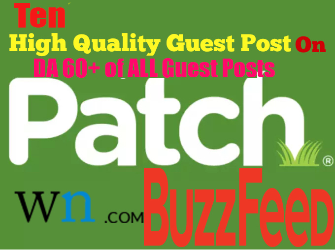 Give You 10 Unique High PR and High Authority Guest Post Backlinks