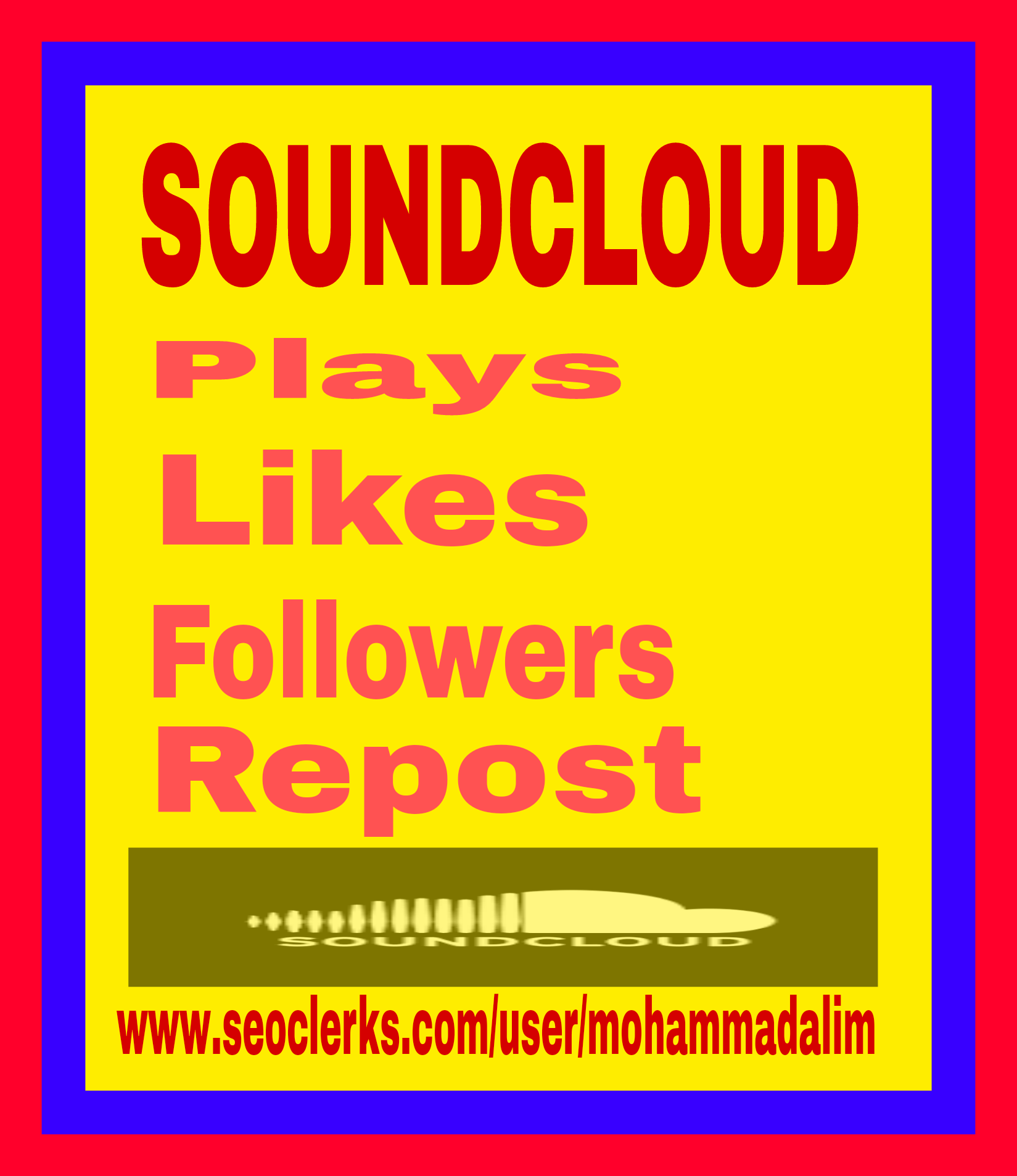1000 Soundcloud followers or 1000soundcloud likes super fast delivery