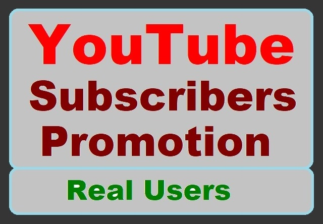 I will provide you High-quality Users for YouTube account Promotion