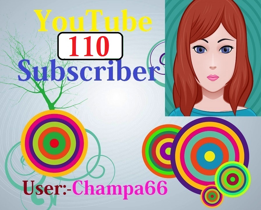 I give you 110+ subscriber Never drop on your URL link very fast complete only