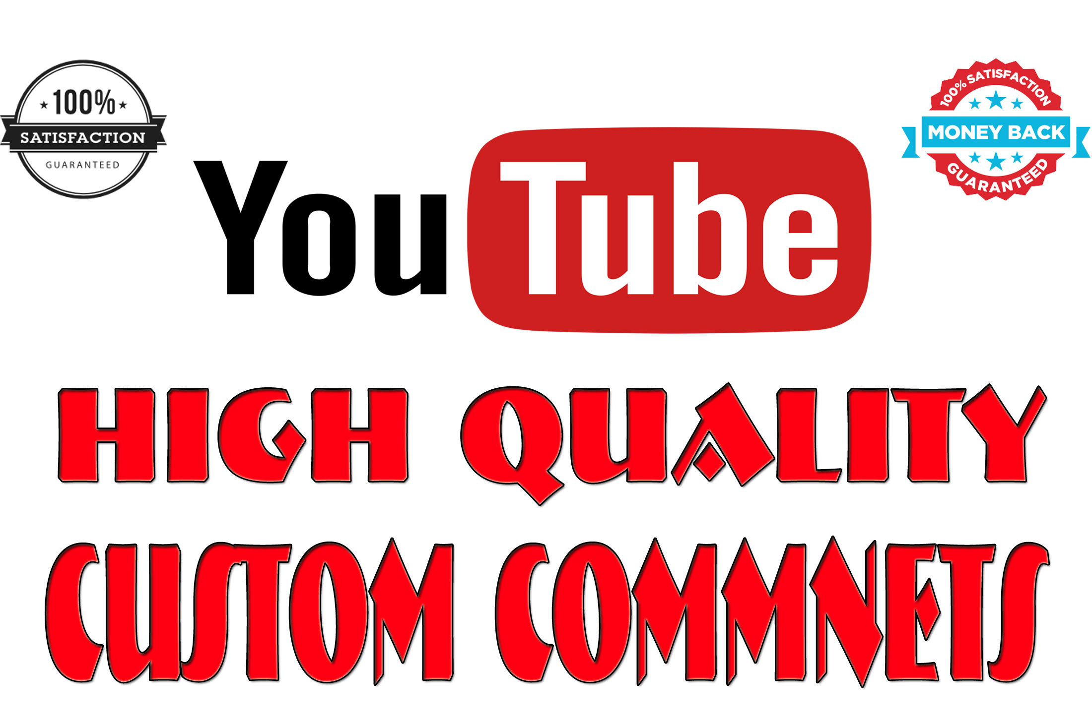 offer 32+ World Wide youtube custom comments awesome fast