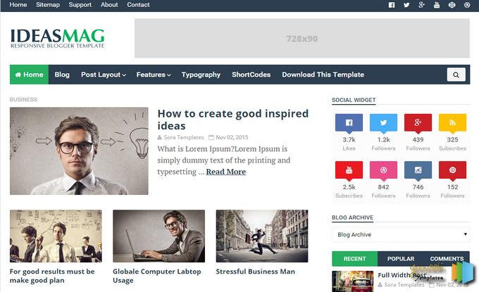 Buy any Responsive Beautiful & Professional wordpress theme and blogger Templates